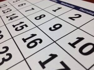 calendar - cancer awareness dates